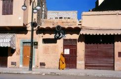 Сцена улицы Marrakech. Стоковая Фотография RF
