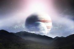 Сцена фантазии мира чужеземца иллюстрация вектора
