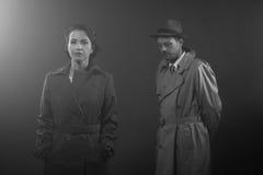 Сцена фильма noir Стоковое фото RF