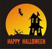 Сцена хеллоуина Стоковые Фотографии RF