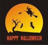 Сцена хеллоуина Стоковые Изображения