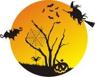 Сцена хеллоуина Стоковая Фотография RF