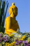 Сцена цветка и фон Buddhas стоковые фотографии rf