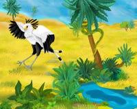 Сцена шаржа - одичалые животные Америки - snake едок бесплатная иллюстрация