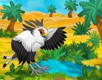 Сцена шаржа - одичалые животные Африки - snake едок иллюстрация штока
