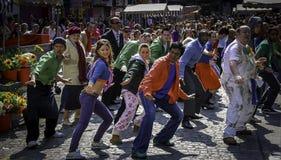 Сцена Bollywood в рынке овоща Дублина Стоковое Фото