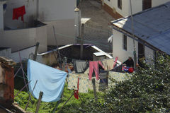 Сцена Nazare Португалия улицы стоковое фото rf