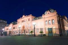 Сцена Nighttime в городе Буэноса-Айрес стоковая фотография