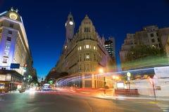 Сцена Nighttime в городе Буэноса-Айрес стоковые фото