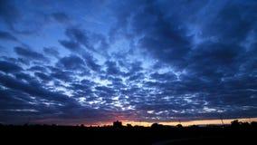 Сцена Twilight солнца cloudscape установленная Стоковое Фото