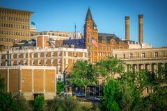 Сцены вокруг spokane Вашингтона городского стоковое фото rf