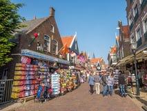Сцены города Volendam стоковые фотографии rf