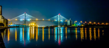 Сцены портового района и улицы Georgia саванны Стоковые Изображения RF