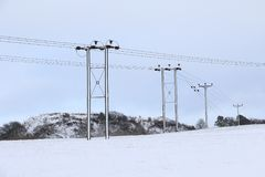 Сцены снега Стоковые Изображения RF
