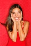 Счастливая азиатская женщина Стоковая Фотография