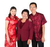 Счастливая азиатская китайская семья Стоковые Фото