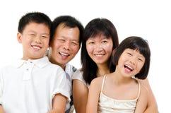 Счастливая азиатская семья Стоковое Изображение RF