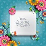 Счастливая бабочка c весны Стоковое Изображение RF