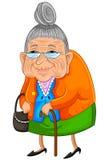 Счастливая бабушка иллюстрация вектора