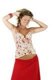 счастливая беременная женщина Стоковая Фотография RF