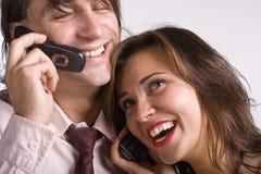 счастливая беседа стоковая фотография