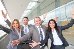 Счастливая бизнес-группа Стоковое Изображение RF
