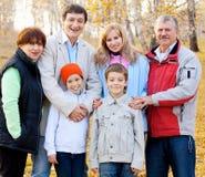 Счастливая большая семья Стоковое Изображение RF