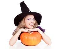 Счастливая ведьма Стоковое Фото