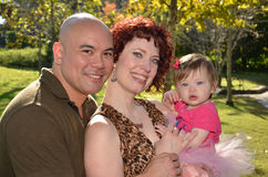 Счастливая Взаимо--Расовая семья Стоковые Фотографии RF