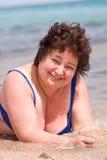 счастливая возмужалая женщина Стоковая Фотография
