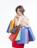Счастливая девушка покупкы Стоковая Фотография RF