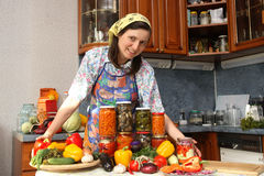 счастливая домохозяйка стоковая фотография rf