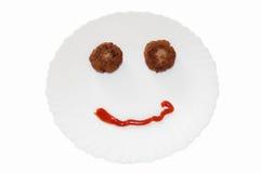 счастливая еда Стоковая Фотография RF