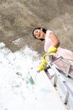 счастливая женщина картины работы Стоковая Фотография RF
