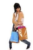 счастливая женщина покупкы Стоковое Изображение