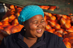 счастливая женщина сбываний Стоковая Фотография