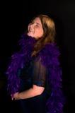 счастливая женщина смеха Стоковые Изображения