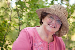 счастливая женщина старшия портрета Стоковое Изображение