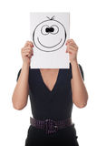 счастливая женщина усмешки стоковое изображение