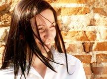 счастливая женщина Стоковое фото RF
