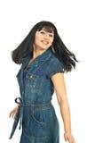 счастливая женщина twirl стоковое изображение rf