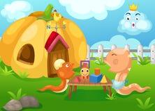 Счастливая змейка семьи Стоковое Изображение RF