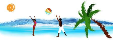 Счастливая игра детей в шарике Стоковая Фотография RF
