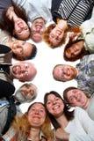 счастливая изолированная команда Стоковые Фотографии RF