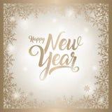 Счастливая иллюстрация вектора поздравительной открытки Нового Года иллюстрация вектора