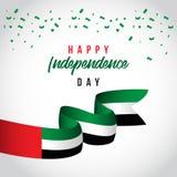 Счастливая иллюстрация дизайна шаблона вектора дня ОАЭ независимая бесплатная иллюстрация