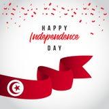 Счастливая иллюстрация дизайна шаблона вектора дня Туниса независимая иллюстрация штока