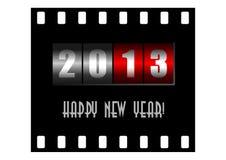 Счастливая иллюстрация Новый Год с счетчиком Стоковая Фотография