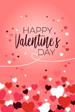 Счастливая иллюстрация поздравительной открытки дня Валентайн стоковое изображение rf