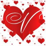 Счастливая иллюстрация предпосылки сердец дня валентинок Стоковое Изображение RF